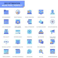 Simple Set Seo and Development Flat Icons for Website and Mobile Apps