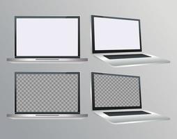 laptops computadores portáteis dispositivos digitais vetor