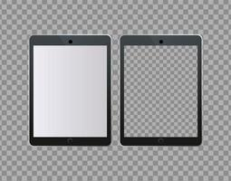 ícones de tecnologia de dispositivos digitais de tablets vetor
