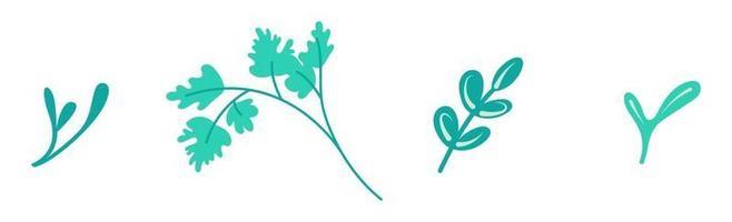 vegetação de fazenda definir ilustração vetorial plana para cozinhar vetor