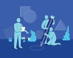 conceito de ilustração vetorial de trabalho em equipe vetor
