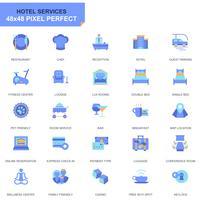 Ícones de simples conjunto Hotel serviços Flat para site e aplicativos móveis vetor