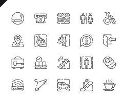 Conjunto simples ícones de linha de navegação pública para o site e aplicativos móveis. vetor