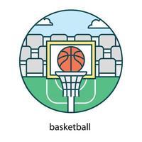 gol de basquete na moda vetor