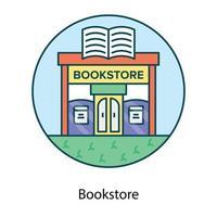 construção de livraria mostrando vetor