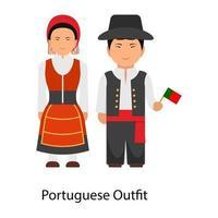 roupa tradicional portuguesa vetor