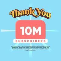 comemorar, obrigado por 10 mil assinantes vetor
