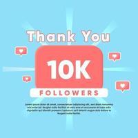 obrigado por 10 mil seguidores vetor