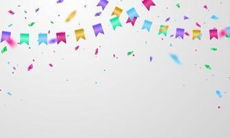 ilustração em vetor fundo banner celebração