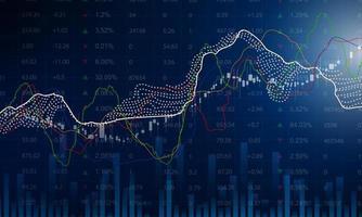 gráfico econômico do mercado de ações com diagramas de negócios e conceitos financeiros e relatórios. vetor