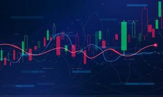 gráfico econômico do mercado de ações com diagramas de negócios e conceitos financeiros e relatórios conceito abstrato de comunicação de tecnologia vetor