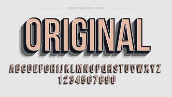 Tipografia 3D vintage em maiúsculas vetor