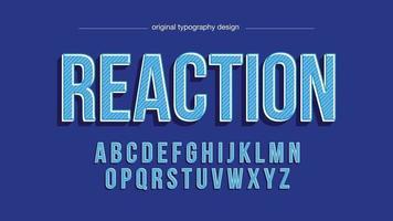 tipografia vintage em letras maiúsculas azul vetor