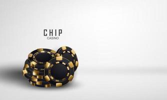 chip de cassino celebração festa jogo de fundo banner vetor