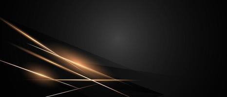 pôster abstrato em ouro preto com design dinâmico vetor