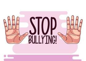 pare de letras e mãos de bullying vetor