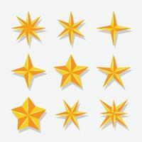 elemento estrela com ícone de cor dourada vetor