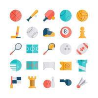 ícone do esporte definido vetor plano para site móvel apresentação de aplicativo mídia social adequada para interface de usuário e experiência do usuário