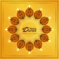 Fundo religioso feliz elegante abstrato de Diwali vetor