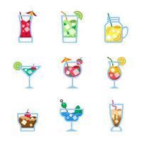 coquetéis ícone de bebidas de verão vetor