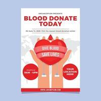 doar sangue para que outros tenham uma vida melhor vetor