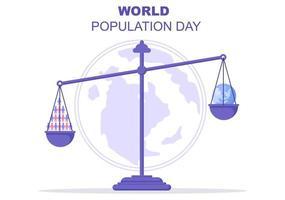 ilustração do dia da população mundial vetor