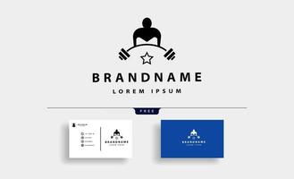 vetor de design de logotipo de fisiculturismo barra