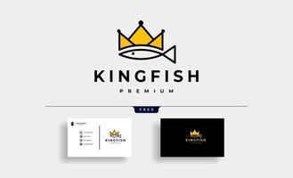 ilustração em vetor design de logotipo rei peixe