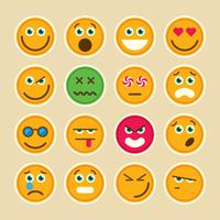 Conjunto de emoticons. vetor