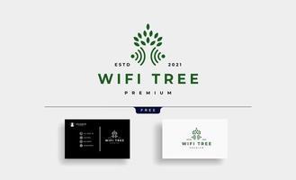 vetor de design de logotipo de wi-fi da árvore