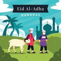 conceito de eid al adha vetor