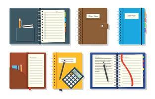 caderno de estudo de jornal vetor