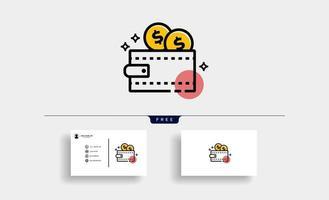 ícone de carteira para economizar dinheiro vetor