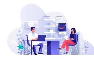 página de destino plana de serviços de clínica médica vetor