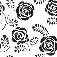 padrão floral sem costura com flor rosa redemoinho abstrato linha flor fundo pétala papel de parede lado a lado vetor