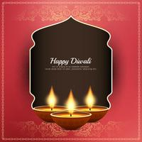 Resumo feliz Diwali fundo saudação religiosa vetor
