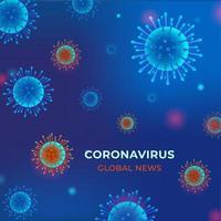 coronavírus covid fundo azul 2019 vetor