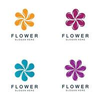 flores desenho vetorial para spa vetor