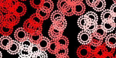 modelo de vetor vermelho escuro com sinais de gripe
