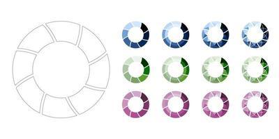 definir ícones de carregamento e barra de progresso para o processo de rodada de download vetor