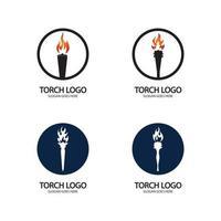 modelo de design de ilustração de ícone de vetor de tocha