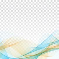 Fundo transparente ondulado colorido abstrato vetor