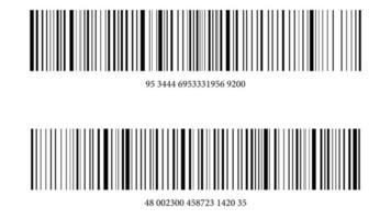 produto código de barras ilustração vetorial grátis vetor