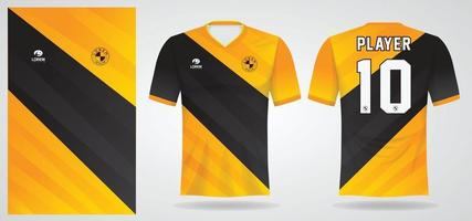 modelo de camisa esportiva para uniformes de time e design de camisetas de futebol vetor