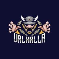 logotipo de viking valhalla vetor