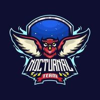 logotipo do esporte da coruja vetor