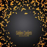 Fundo abstrato confete dourado vetor