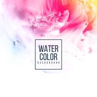 Fundo colorido abstrato aquarela design vetor