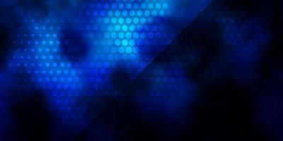 textura de vetor azul escuro com ilustração abstrata de círculos com manchas coloridas no padrão de estilo da natureza para páginas de destino de sites