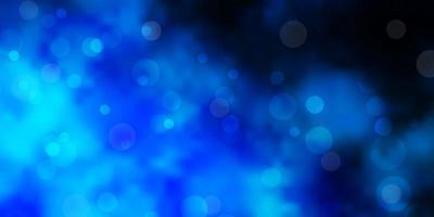 modelo de vetor azul claro com círculos abstratos discos coloridos em padrão de fundo gradiente simples para sites